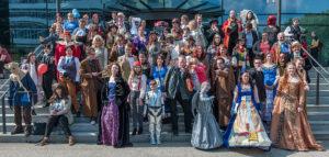 Cosplay Gruppenfoto auf der FedCon